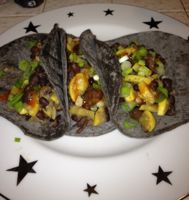 Fellowship of the Vegetable Black Bean Zucchini Taco