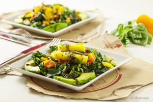 Fellowship of the Vegetable Grilled Pineapple Kale Salad