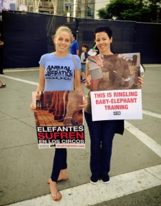 Fellowship of the Vegetable Ringling Bros Protest