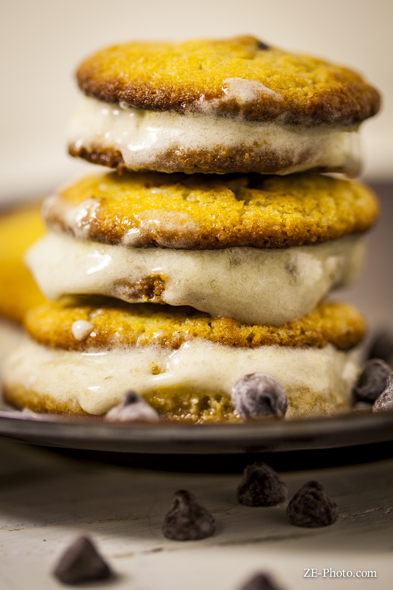 Chocolate Chip And Banana Ice Cream Sandwiches Recipe — Dishmaps