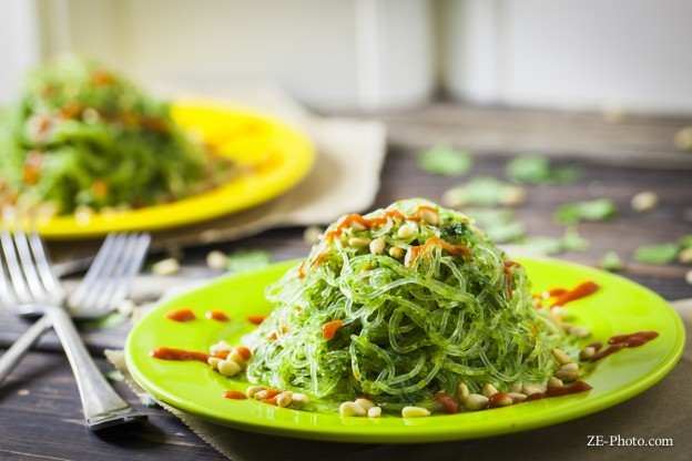 Fellowship of the Vegetable Kelp Noodles Cilantro Pesto 1