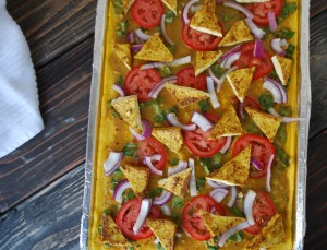 Fellowship of the Vegetable Tofu Coconut Curry Polenta Pizza 9
