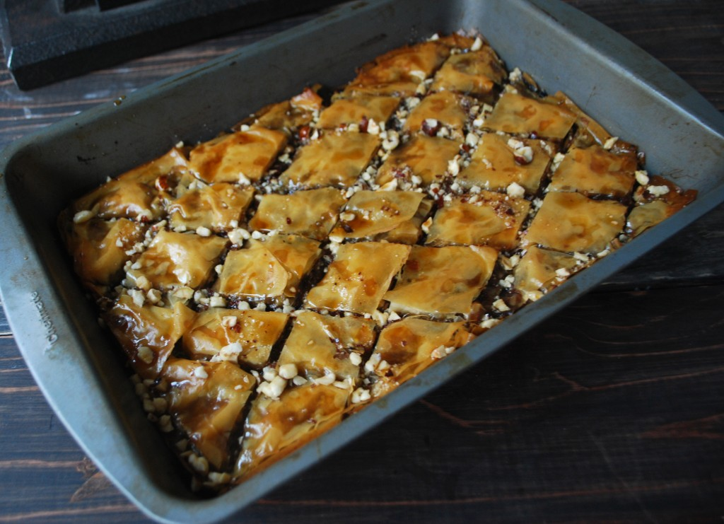 Fellowship of the Vegetable Chocolate Banana Baklava 2