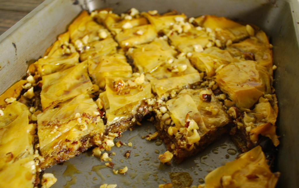 Fellowship of the Vegetable Chocolate Banana Baklava 5