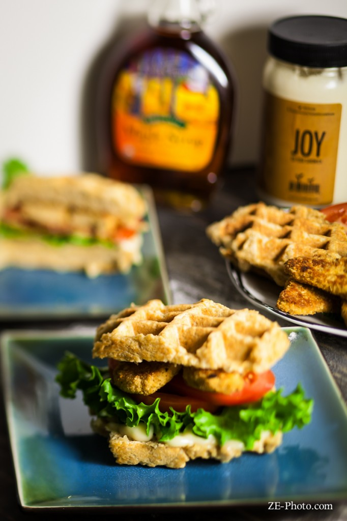 Fellowship of the Vegetable Chicken & Waffle Sandwich 1