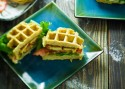 Fellowship of the Vegetable Chicken & Waffle Sandwich Featured