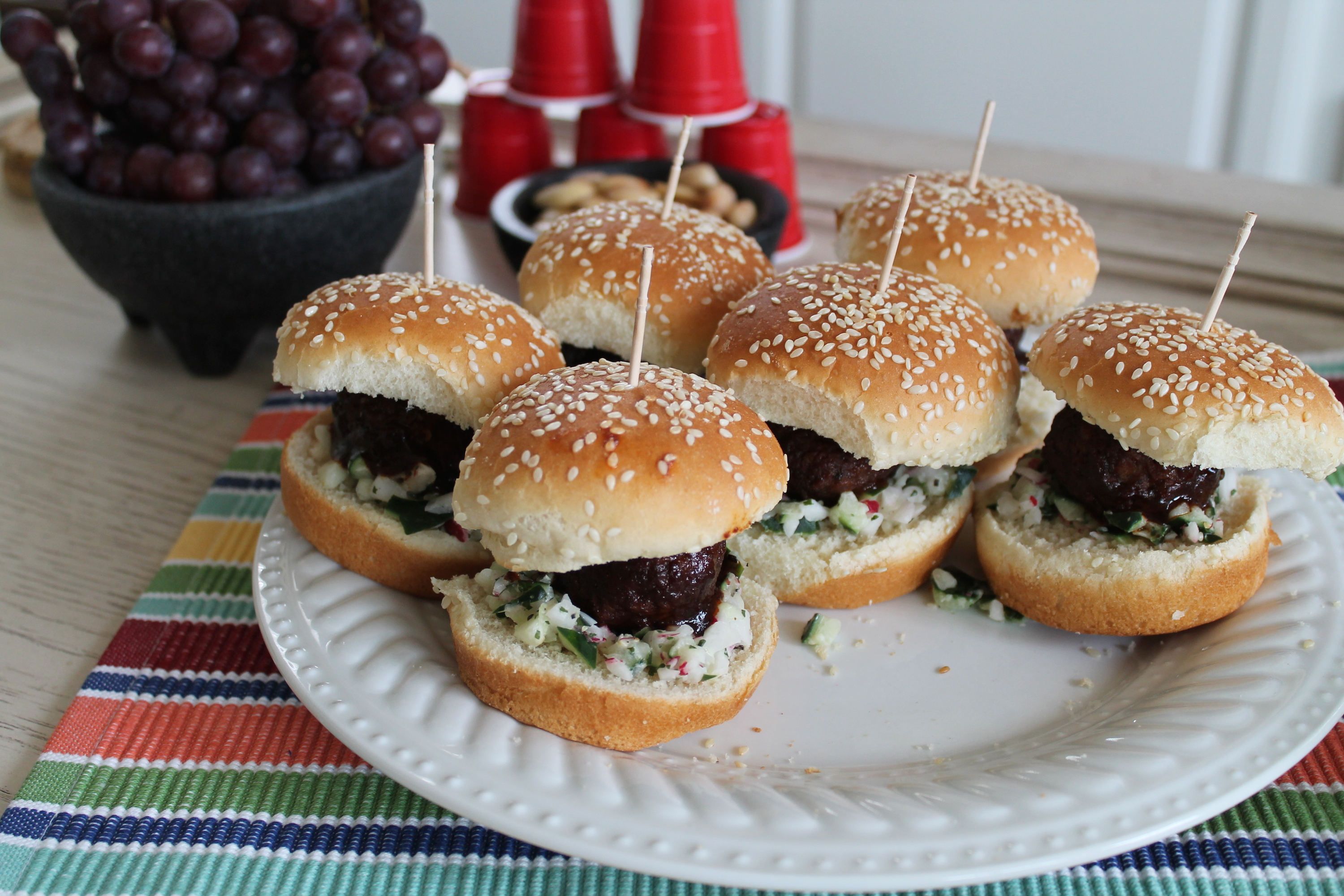 Fellowship of the Vegetable Superbowl Vegan BBQ Sliders 2