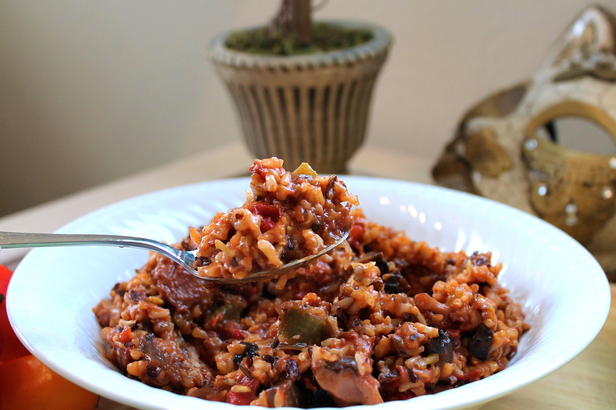 Fellowship of the Vegetable Vegan Jambalaya 4