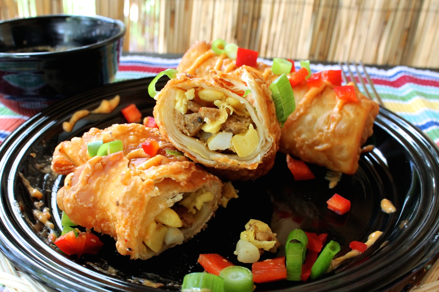 Fellowship of the Vegetable Vegan Breakfast Egg Rolls 5